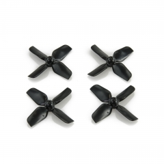 HQ Micro Whoop Prop 1.2X1.3X4 (31MM)Black 0.8MM Shaft (2CW+2CCW)-ABS