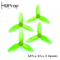 HQ Durable Prop T2.5X3.5X3 Light Green (2CW+2CCW)-Poly Carbonate